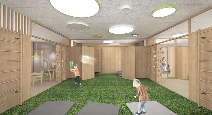 Návrh interiéru detských jaslí