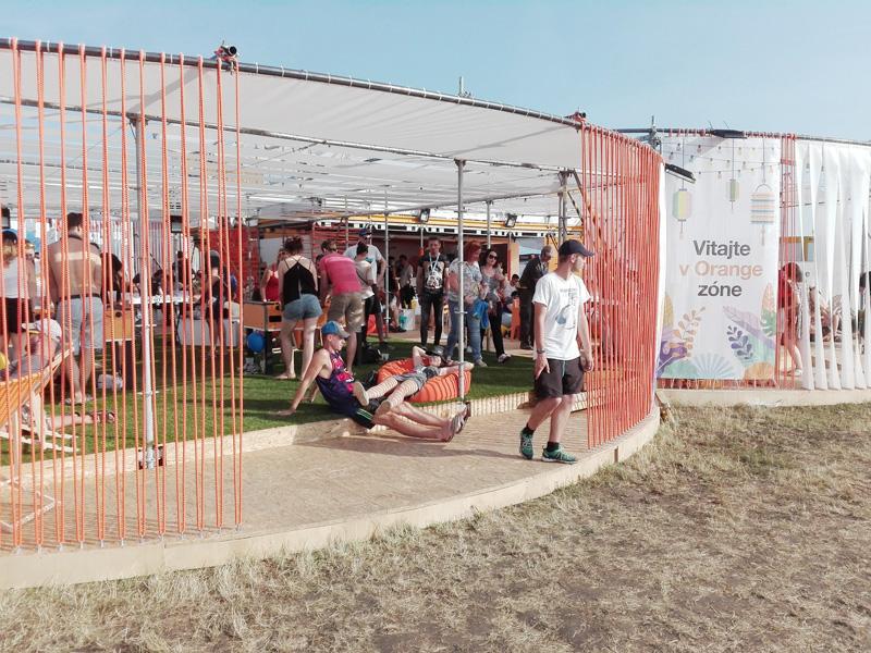 Orange Pavilón na Festivale Pohoda - Ateliér BAAR
